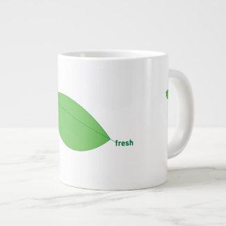 Fresh Green Leaves Jumbo Mug