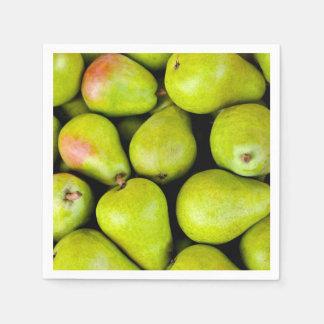 Fresh Green Pears Paper Napkins