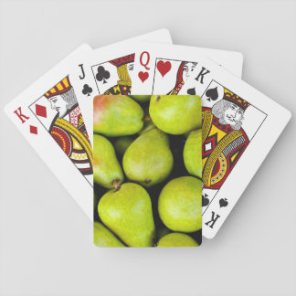 Fresh Green Pears Playing Cards