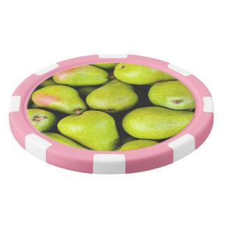 Fresh Green Pears Poker Chips