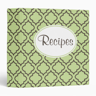Fresh Green Recipe Binder