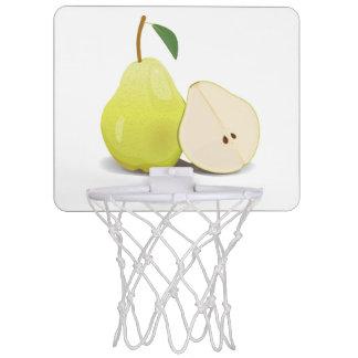 Fresh Green Skinned Pear Mini Basketball Hoop