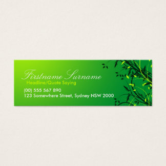 Fresh Green Vines Leaves compact cards