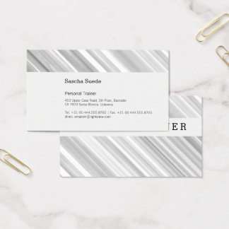 Fresh Grey with Black Business Card