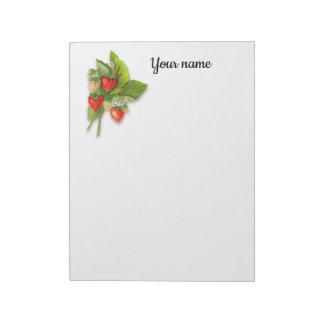 Fresh Growing Strawberries Notepad