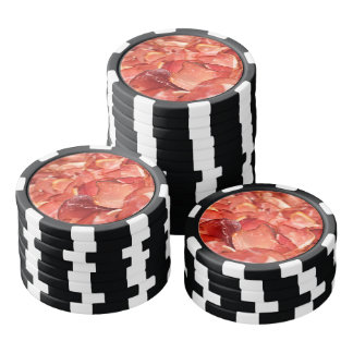Fresh ham bacon food pattern for the meat lovers poker chips