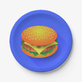 Fresh Hamburger Paper Plates 7 Inch Paper Plate