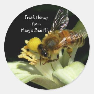 Fresh Honey Bee Hive Sticker Labels