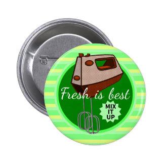Fresh is best retro mixer design 2 inch round button