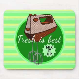 Fresh is best retro mixer design mouse pad