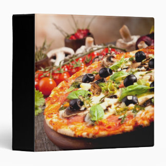 Fresh Italian pizza 3 Ring Binders