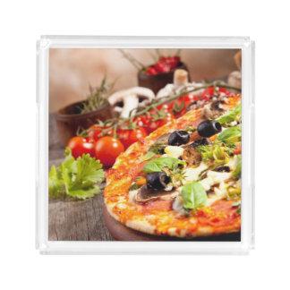 Fresh Italian pizza Acrylic Tray