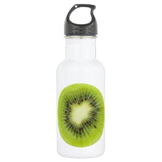 Fresh kiwi fruit. Round slice closeup isolated 532 Ml Water Bottle