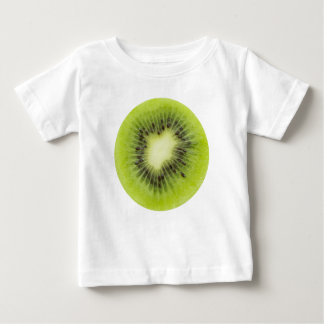 Fresh kiwi fruit. Round slice closeup isolated Baby T-Shirt