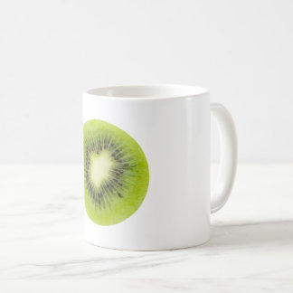 Fresh kiwi fruit. Round slice closeup isolated Coffee Mug