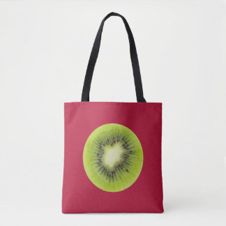 Fresh kiwi fruit. Round slice closeup isolated Tote Bag