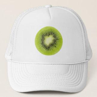 Fresh kiwi fruit. Round slice closeup isolated Trucker Hat
