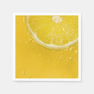 Fresh Lemon Disposable Napkins