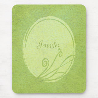 Fresh Lemon Grass Custom Name Spring Green Mouse Pad