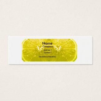 Fresh Lemon Mini Business Card