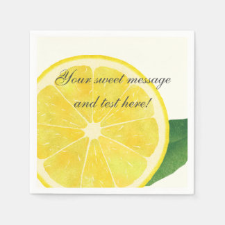 Fresh Lemon Paper Napkin