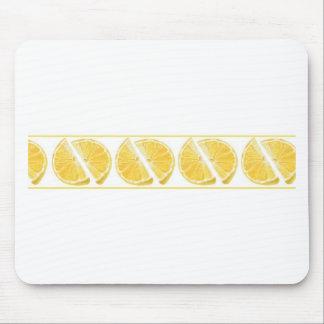 Fresh Lemon Pattern Mouse Pad