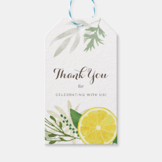 Fresh Lemon Thank You Gift Tags Pack Of Gift Tags