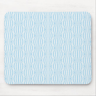 Fresh Light Blue and White Circle Pattern Mouse Pads