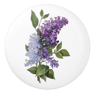 Fresh Lilacs - French Country Home Decor Ceramic Knob