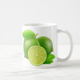 Fresh limes coffee mug