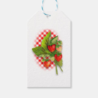Fresh Looking Bunch of Strawberries Gift Tags