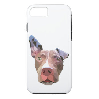 Fresh Low Poly Pit Bull iPhone Case