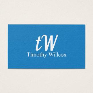 Fresh Minimalist Modern design Elegant Blue Business Card