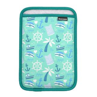 Fresh mint nautical sailor pattern iPad mini sleeve