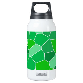 Fresh modern organic pattern insulated water bottle