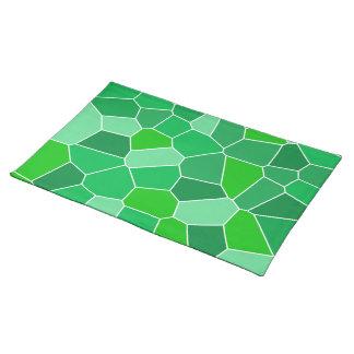 Fresh modern organic pattern place mats