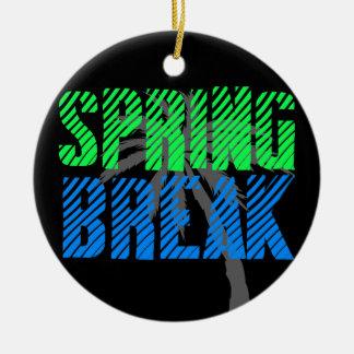 Fresh Neon Spring Break Ceramic Ornament