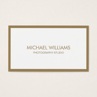 Fresh new golden white professional elegant business card