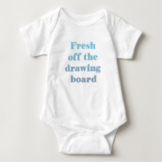 Fresh off the drawing board Personalized Baby Bodysuit