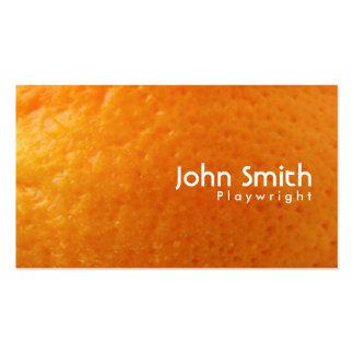 Fresh Orange Texture Playwright Business Card