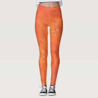 Fresh Oranges Digital Overlay Art Leggings