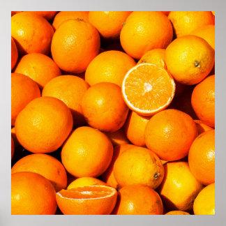 Fresh Oranges Poster/Print Poster