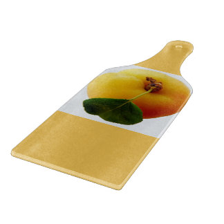Fresh Peach Glass Cutting Board