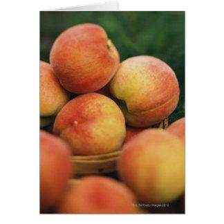 Fresh peaches card