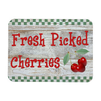 Fresh Picked Cherries Country Kitchen Magnet