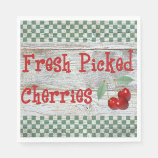 Fresh Picked Cherries Paper Napkins