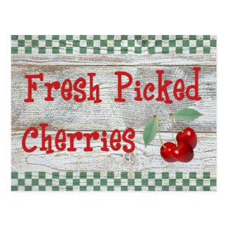 Fresh Picked Cherries Recipe Card