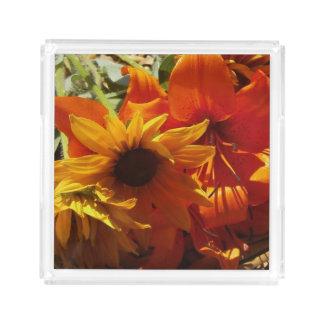 Fresh Picked Flowers Acrylic Tray