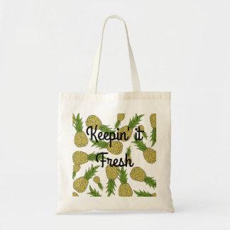 Fresh Pineapple Grocery Bag