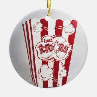 Fresh Popcorn Bag red Vintage Ceramic Ornament